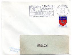 AUDE - Dépt N° 11 = LIMOUX 1967 = FLAMME Codée = SECAP Illustrée ' PAYS CATHARE / Blanquette - Nougat ' - Oblitérations Mécaniques (flammes)