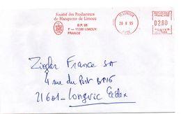 AUDE - Dépt N° 11 = LIMOUX 1995 = FLAMME ROUGE = EMA Illustrée D'une AIGLE ' BLANQUETTE / Société Des Producteurs' - Vins & Alcools