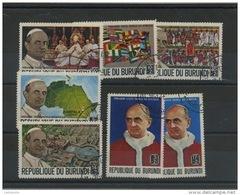 BURUNDI : PAUL VI -  N° Yvert  330/336 Obli. - Burundi