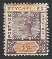 Seychelles, 3 C, 1893, Scott # 3, MH - Seychelles (...-1976)