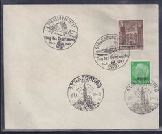Enveloppe Locale Journee Du Timbre 1941 Strasbourg Tag Der Briefmarke - France