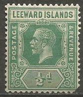 Leeward Islands - 1922 King George V 1/2d MH *  SG 59  Sc 62 - Leeward  Islands
