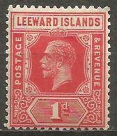 Leeward Islands - 1921 King George V 1d MH *  SG 60  Sc 63 - Leeward  Islands