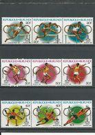 BURUNDI  Scott 570-572 Yvert 856-864 (9) ** Cote 49,00 $ 1980 - Burundi