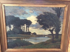 Landschaft Ölbild HARDT ERNST Düsseldorfer Kunstakademie(1869 Marienburg Köln 1917 Bad Godesberg)  [oil Painting - Huiles