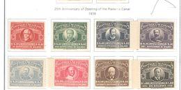 Panama PA 1939 Apertura Canale 25 Ann.  Scott.C54/61+See Scans On Scott.Page - Panama