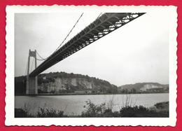 Photographie En Noir Et Blanc - Normandie - Pont De Tancarville - Années 1960 - Lieux