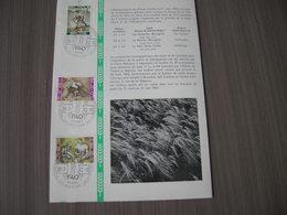 """BELG.1963 1243-45 FDC Sur Folder FR.: """"Le Coeur Ouvert Sur Le Monde /FAO - Bestrijding Van De Honger """" - FDC"""