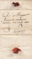 France 1780 Entire Letter Valenciennes To Avignon (q88) - Marcofilie (Brieven)
