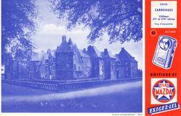 Buvard : PILES MAZDA - Château De CARROUGES - Piles