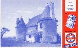 Buvard : PILES MAZDA - Château De RIS - BESSON - Piles