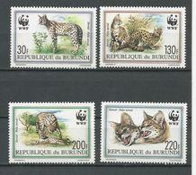 BURUNDI  Scott 681-684 Yvert 968-971 (4) ** Cote 23,00 $ 1992 - 1990-99: Neufs