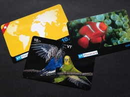 3 CARTES VT PHONE CARD - Switzerland