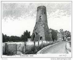MELSEN Bij Merelbeke (O.Vl.) - Molen/moulin - Fraaie Natuurgetrouwe Pentekening Van De Stenen Molen (romp) - Merelbeke