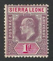 Sierra Leone, 1 P. 1904, Sc # 78, Mi # 56, MH. - Sierra Leone (...-1960)