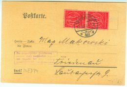 D 74 Paar Postkarte 1923 Nach Friedenau - Dienstpost
