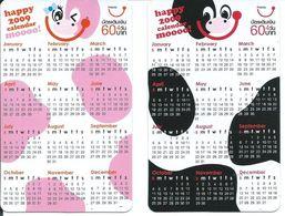 2 Cartes Prépayées  Thailande Calendrier  Calendar (D 510) - Thaïlande