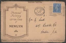 Six Views Of Newlyn, Cornwall, 1944 - Thomas Barnes Letter Card - England
