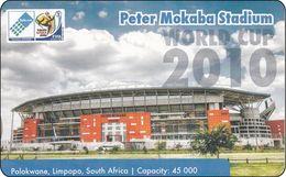 South Africa Phonecard Peter Mokaba Stadium, Polokwane Football 2010 Mint - Zuid-Afrika