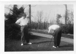 La  Partie De Golf -  Petit Format   9cmX6,50cm  Gevaert Ridax Impeccable  Photo Ancienne  Année 1940 - Golf