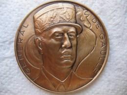 Médaille General De Gaulle, France Libre 1940 1990 , Par Huguenin - France