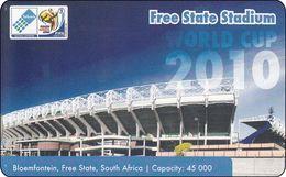 South Africa Phonecard Free Staate Stadium Bloemfontein Football 2010 Mint - Zuid-Afrika