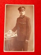 A Musician (wearing A Railroad Uniform ?) With A Trumpet, Cca 1900. - Autres