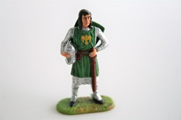 Elastolin, Lineol Hauser, H=40mm, Norman, Knight Gawain, RaRe - 1960's - Plastic - Vintage Toy Soldier - Figurines