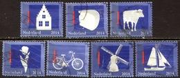 Nederland 2014, Netherlands, Niederlande, Pays-Bas, Holland, Dutch Icons, Icoon, Icones, Mi 3142 / 3149 - Gebruikt