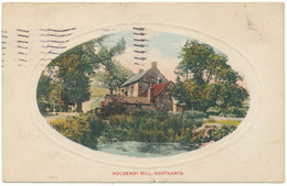"""BEAUTIFUL PHOTOCARD?PAINTED? """"HOLDENBY MILL, NORTHANTS"""" See Scans - Northamptonshire"""
