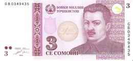 Tajikistan - Pick 20 - 3 Somoni 2010 - Unc - Tadjikistan