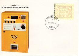 Münz - Wertzeichendrucker S 0,50 Mit Stpl. 5033 Salzburg 1983 FDC Ersttag - FDC