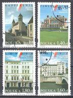 Poland 1999 - Polish Cultural Buildings - Mi 3801-04 - Used Gestempelt - Usati