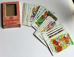 Rare 32 Cartes Chansons à Boire Le Diable Farceur Humour érotique - 32 Cards