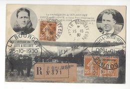 COSTE ET BELLONTE LE BOURGET 25 OCTOBRE 1930 AVIATION AVIATEUR /FREE SHIPPING REGISTERED - Poststempel (Briefe)