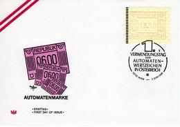 Münz - Wertzeichendrucker S 6,- Mit Stpl. 1. Verwendungstag FDC Ersttag - FDC