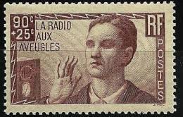 """FR YT 418 """" La Radio Aux Aveugles """" 1938 Neuf** - Frankreich"""