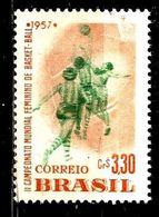 BRESIL 634**  3cr30 Rose-orange Et Vert  2ème Champiobbats Du Monde Féminin De Basket-ball - Brésil