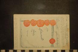 CP,  GUERRE 1914/1915 - MILITARIA - LE CHIFFON DE PAPIER - Fac Similé Authentique - Signé René Des Alyscamps - - Oorlog 1914-18