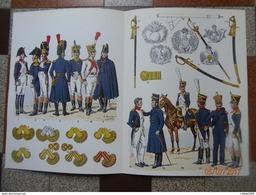INFANTERIE DE LIGNE OFFICIERS 1804 1815 UNIFORME ARMEMENT EQUIPEMENT PAR ROUSSELOT EMPIRE EPEE SABRE EPAULETTE FUSILIER - Uniform