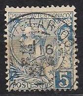 Monaco 1891-94Yvertn° 13  (°) Oblitéré Used Cote 8,00 Euro - Monaco