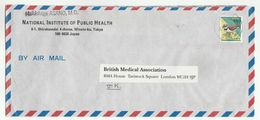 2002 TOKYO National INSTITUTE PUBLIC HEALTH Air Mail COVER To British MEDICAL Assoc GB Health Bird JAPAN Stamps Medicine - Medicine