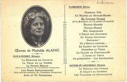 Carte Postale Ancienne De Mathilde ALANIC - DEDICACE - Femmes Célèbres