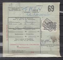 Fragment Met Stempel Carlsbourg - Chemins De Fer