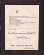 MONS Henry-Charles SAINCTELETTE Avocat Sénateur Bourgmestre De Mons 1851-1905 Funérailles Civiles MARQUEBREUCQ GAILLIEZ - Décès