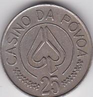 PORTUGAL - CASINO TOKEN JETON - POVOA DE VARZIM - GAMBLE - Casino