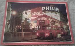 Inghilterra - London - Picadilly Circus - Bus - Pubblicità Coca Cola Canon Philips - Piccadilly Circus