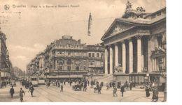 Bruxelles - CPA - Brussel - Place De La Bourse Et Boulevard Anspach - Lanen, Boulevards