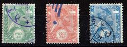 ETHIOPIE 1894 POSTE INTERIEURE N° 1/2/3 OBLITERES - Ethiopia