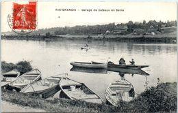 91 RIS-ORANGIS : Garage De Bateaux En Seine - Ris Orangis